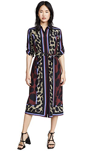 Diane von Furstenberg Women's Sogol Dress, Dark Leopard