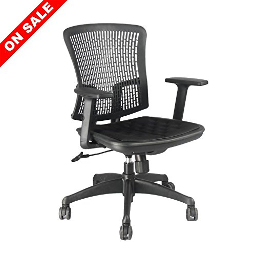 Ergonomic Office Chair Mesh Midback office Task Chair Height and Armrest Adjustable Yuiky Black by Yuiky