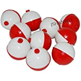 JSHANMEI Hard Snap-On Floats Bobbers Shaped Salt and Pepper Shakers Red and White Fishing Stoppers Assorted Size