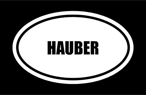 """6"""" die cut white vinyl HAUBER"""
