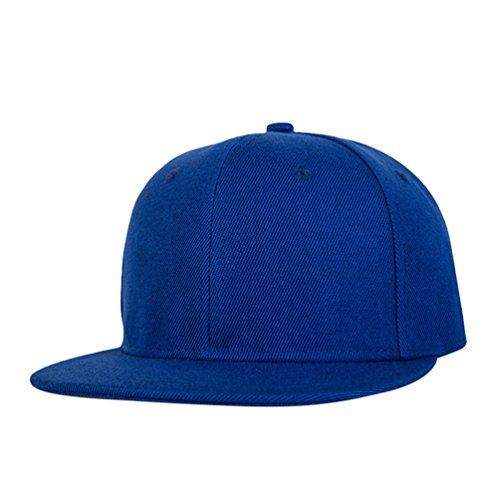 Cap Hop Accesorios de Clásico Azul Baseball Sombrero Hats LINNUO Unisex Snapback Hip Gorras Hats Béisbol Plano w7g5vqI