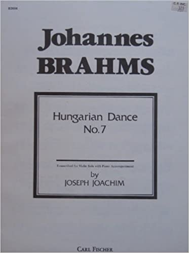 Téléchargement ebook gratuit pour tablette Android Brahms - Hungarian Dance #7 (transcribed for Violin and Piano) RTF B008KTQHIM