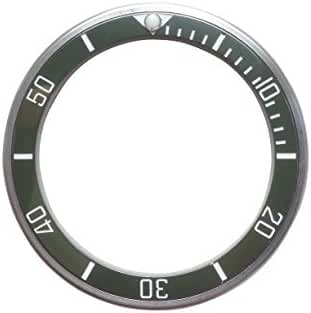 Bezel for Watches Vostok Amphibia Stainless Steel With Ceramic Insert Green (X-type)