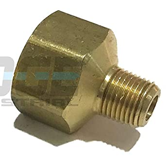 """Universal Pipe Adapter Brass 1//4/"""" Female NPT To 1//8/"""" Male NPT Water Oil Gas Air!"""