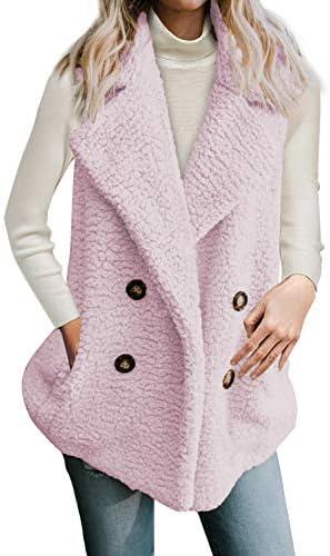 Dokotoo Womens Fleece Pockets Outerwear