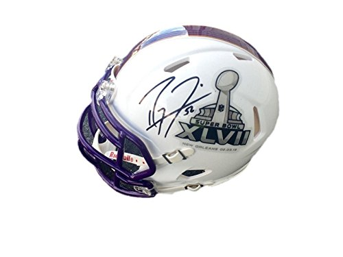 (Ray Lewis Mini Helmet - Super Bowl XLVII - PSA/DNA Certified - Autographed NFL Mini Helmets)
