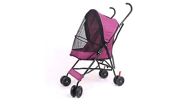 Amazon.com: Dixinla Pet StrollerCat Dog cart Walk Dog car Light Portable Folding Doggy cart: Home & Kitchen