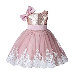 Baby Girls Sleeveless Sequin Dress