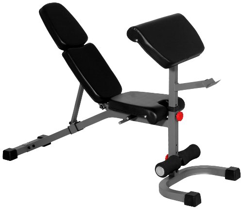 XMark FID Flat Incline Decline Weight Bench With Preacher Curl,  Adjustable Bench, Decline to Full...