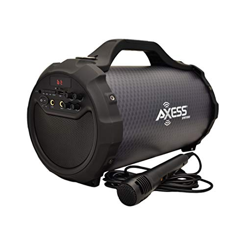 AXESS SPBT1083BK Portable Bluetooth Indoor/Outdoor Speaker with Built in 6