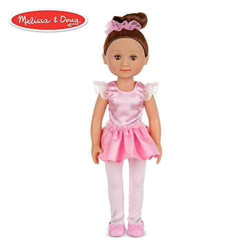- Melissa & Doug Victoria 14-Inch Poseable Ballerina Doll With Leotard and Tutu