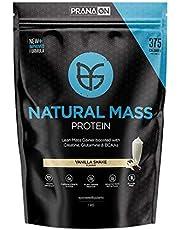Prana ON Natural Mass 2.0, Vegan & Gluten Free Plant Mass Gainer (1kg, Mylk Chocolate)