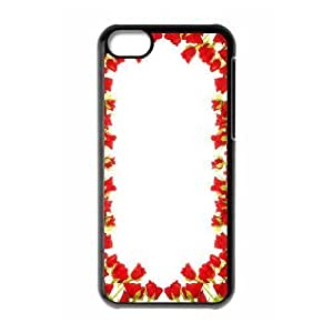 Customized Cell Phone Case Cover for iPhone 5C with DIY Design Happy flowers