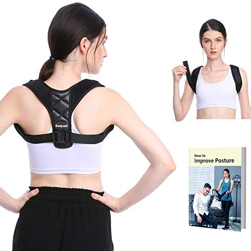 Back Posture Corrector for Women & Men - Back Brace Support Belt, for Shoulder Neck Pain Relief, Slouching Hunching Correction | Adjustable Upper Back Straightener, Comfortable Under Clothes
