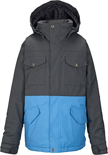 BURTON NUTRITION Burton Fray Jacket Boy's- Faded/Blue Steel Medium by Burton