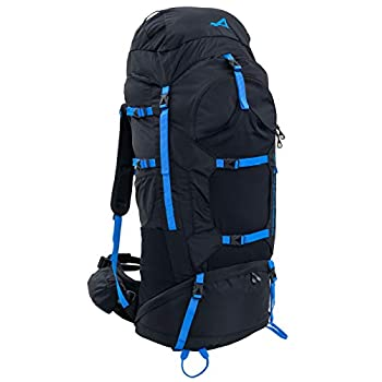 Image of ALPS Mountaineering Caldera Internal Frame Backpack 90L, Black/Blue Internal Frame Backpacks