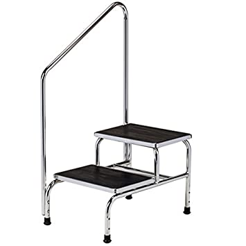 Chrome two-step step stool with handrail  sc 1 st  Amazon.com & Amazon.com: Chrome two-step step stool with handrail: Health ... islam-shia.org