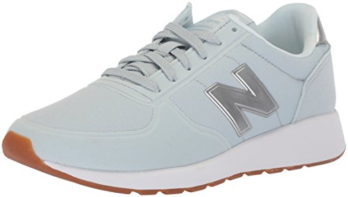 New Balance Womens 215 Sport V1 Sneaker Light Porcelian Blue / Slate Metallic