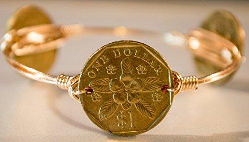 lower wire wrapped bangle bracelet ()