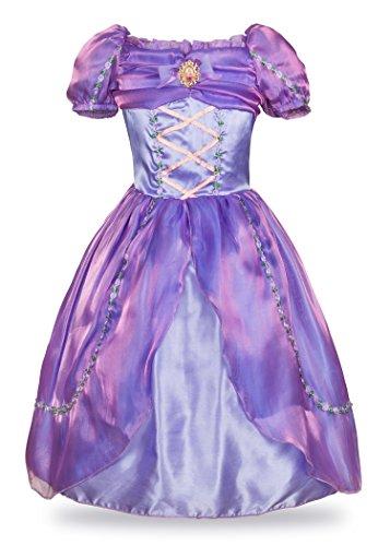 Wenge Little Princess Rapunzel Costume Halloween Dress up (4 Years, (Princess Halloween)