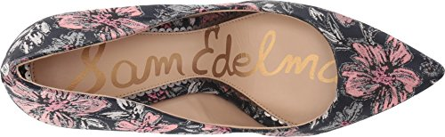 Golden Navy Fabric Secret M Pumps 10 Caramel Edelman US Jacquard Multi Hazel Garden Sam Women Women's IvqWp