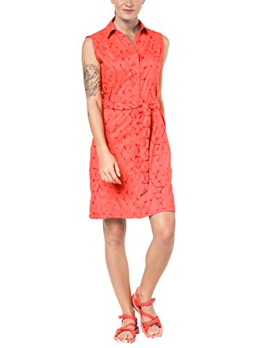 Sonora Spring - Jack Wolfskin Women's Sonora Shibori Dress, XX-Large, Hot Coral All Over