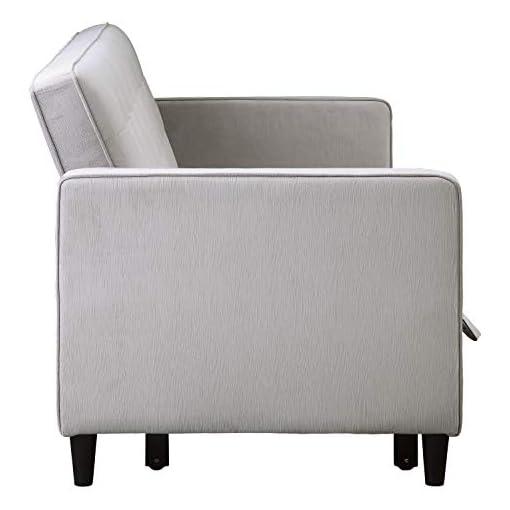 Farmhouse Living Room Furniture Lexicon Knoxville Convertible Studio Sofa Bed, Dove farmhouse sofas and couches