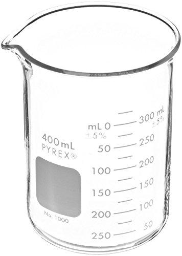 Corning 1000-400 Pyrex Low Form Griffin Beaker, 400 mL