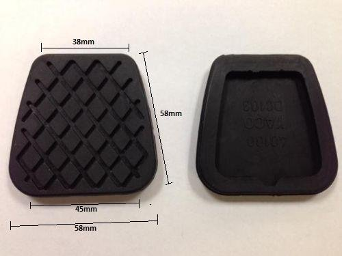 FOOT BRAKE AND CLUTCH PEDAL COVER PAD RUBBERS