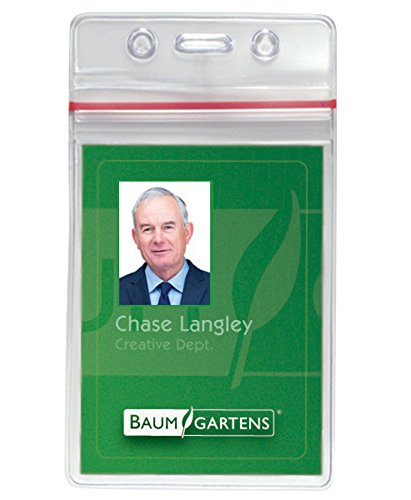 Baumgartens Sicurix Sealable ID Badge Holders (BAU47840)