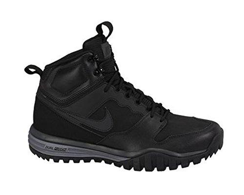 Nike Dual Fusion Hills Mid Leather, Scarpe da Escursionismo Uomo Nero / Nero-antracite