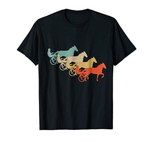 Vintage Retro Style Horses Harness Racing Equitation T-Shirt