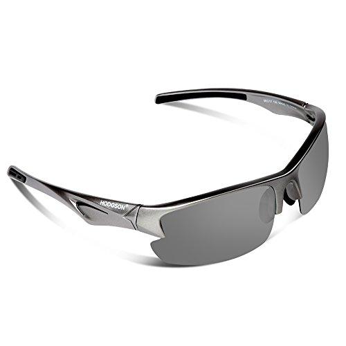 HODGSON polarisierte Sonnenbrille für Herren und Damen, Unzerbrechliche Sonnenbrille-GrauGrau
