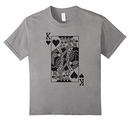 Kids King Of Hearts T-Shirt Halloween Costume Idea 2017 6 Slate (2017 Girl Halloween Costume Ideas)