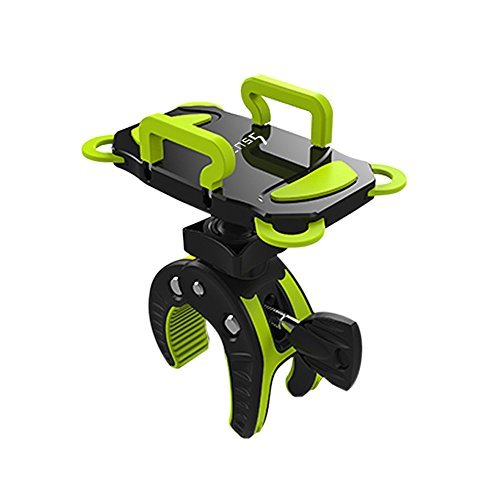 ihens5 Bike Phone Mount, Motorcycle & Mountain Bike Handlebar Phone Mount Bicycle Golf Cart Stroller Cell Phone Holder with Rubber Strap 360 Degrees Rotate for iPhone X 8 7 6 ()