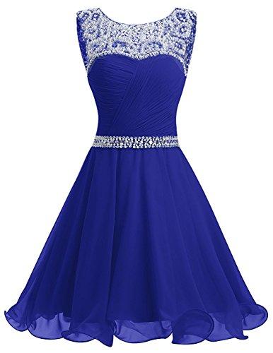 real mujer para Vestido azul trapecio Topkleider qW1Hwzn