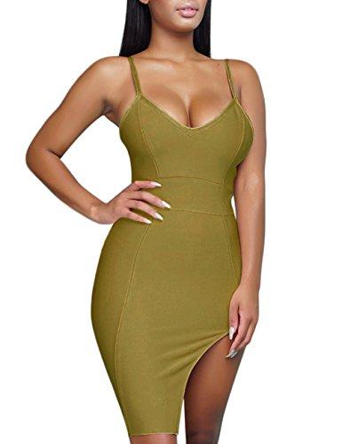 olive bandage dress - 4
