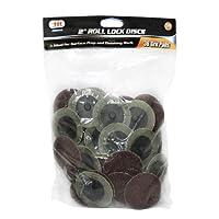 """IIT 82035 Tool 2"""" 36 Grit Roll Lock Sanding Discs"""
