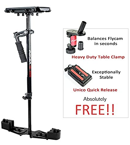 Flycam HD-5000 Handheld Camera Stabilizer with Table Clamp and Quick Release (Black) <span at amazon