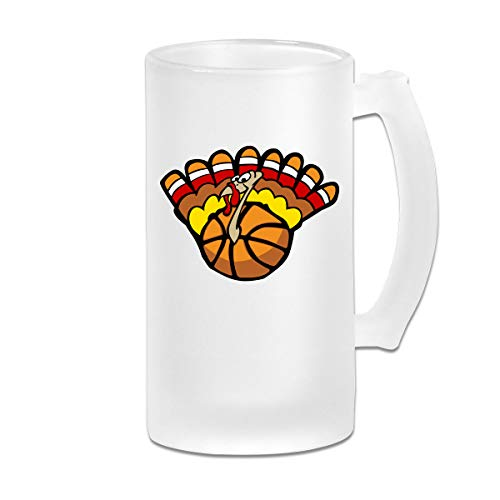 Thanksgiving Basketball Clipart Beer Mug Frosted Glass Stein Beer Cup For Carnival Birthday Present