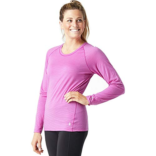 Underwear Crew Long Smartwool - SmartWool Women's Merino 150 Baselayer Pattern Long Sleeve Meadow Mauve Small