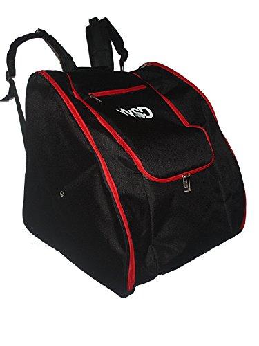 WSD Ski Boot Bag- Ski Gear Backpack for Boots New (Black/Red)