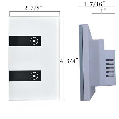 goldwin smart wifi wall light switch 2 gang independent control wall touch panel switch wifi. Black Bedroom Furniture Sets. Home Design Ideas