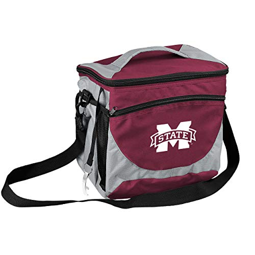 (NCAA Mississippi State Bulldogs 24-Can Cooler with Bottle Opener and Front Dry Storage Pocket)