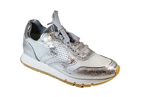 04 Sneaker Julia Donna 0012011156 Voile Argentp Blanche 9136 Da qHxXpX5aw