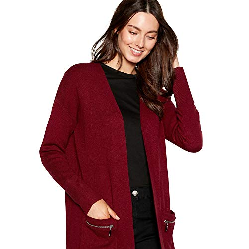 Debenhams Zip Coatigan Sleeve Pocket Womens Long Plum Collection The AxrqIw6Ag