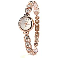 Watch, Womens Watch, Fashion Stainless Steel Analog Quartz Wrist Watch Retro Exquisite Luxury classic Bracelet Casual business Watches For Ladies Teen Girls (Gold)