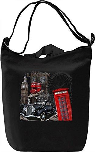 London city Borsa Giornaliera Canvas Canvas Day Bag| 100% Premium Cotton Canvas| DTG Printing|