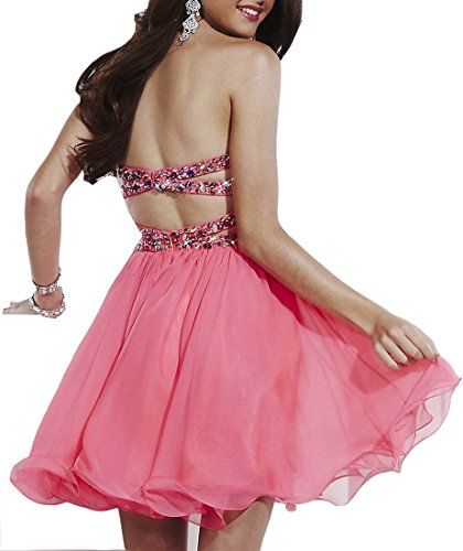 Hohe Pink zweiteiliges Halsband emmani Ballkleid Damen B6aOT