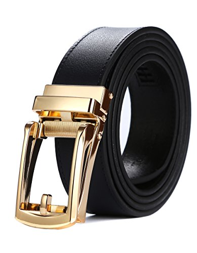 r Ratchet Belts with New Style Open Buckle Dress Belt 30mm Wide (One Size:32